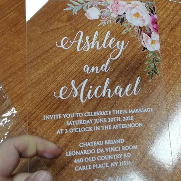 partecipazioni nozze in plexiglass