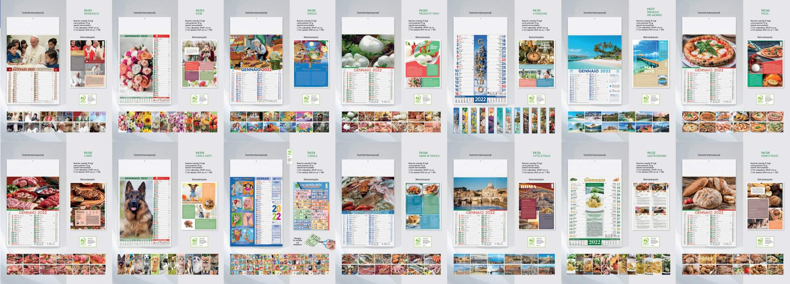 calendari personalizzati illustrati