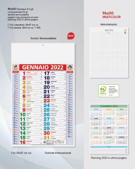 calendari personalizzati multicolor olandese