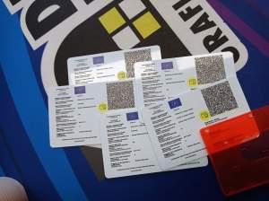 green pass card Card in PVC